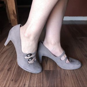 Naturalizer Grey Prudence Mary Jane Pumps